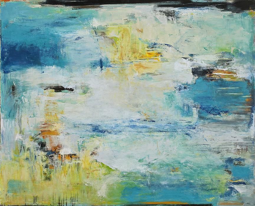 Original art for sale at UGallery.com | Like Water on Stone by LISA MANES-JAMES | $4,100 | Oil painting | 48' h x 60' w | http://www.ugallery.com/oil-painting-like-water-on-stone