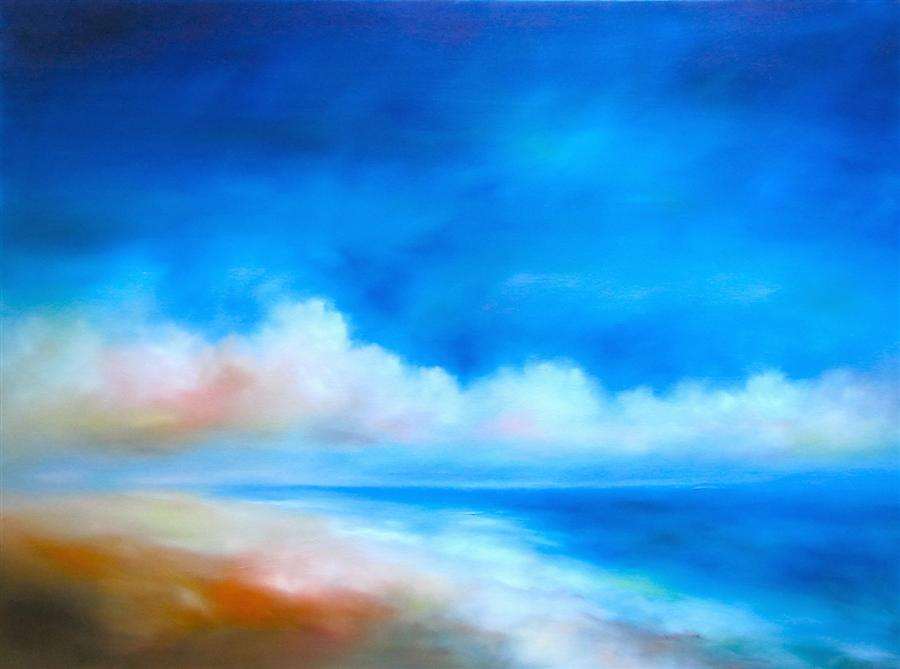 Original art for sale at UGallery.com | Sea Cloudscape by NANCY HUGHES MILLER | $2,075 | Oil painting | 36' h x 48' w | http://www.ugallery.com/oil-painting-sea-cloudscape