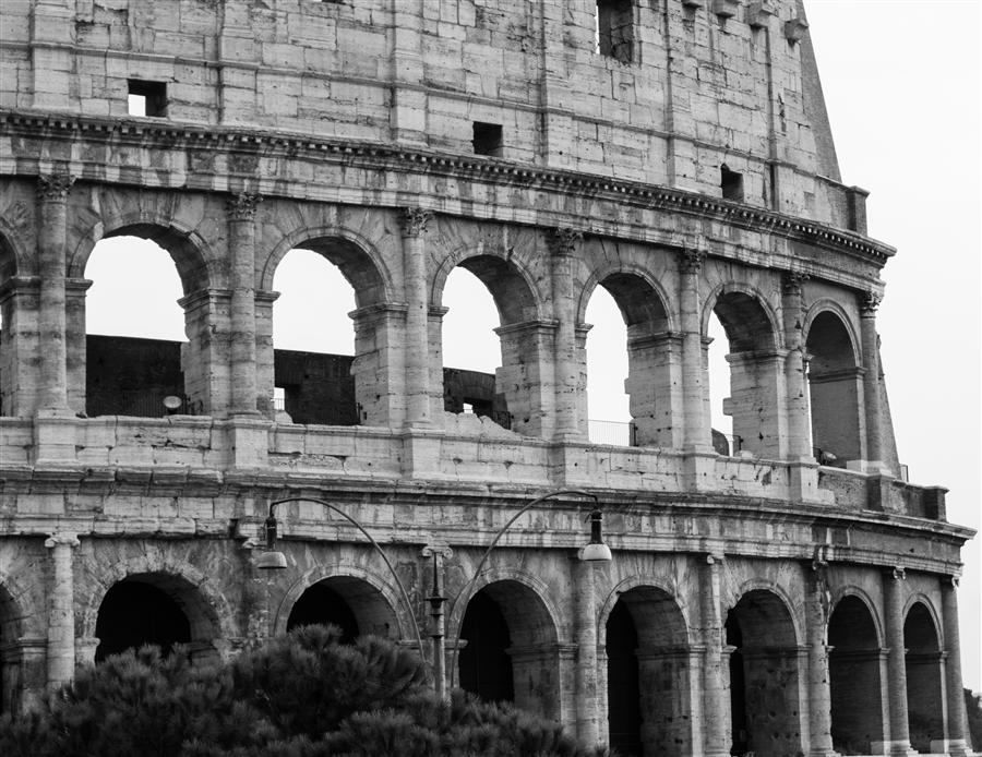 Original art for sale at UGallery.com | Rome Coliseum in Black and White by REBECCA PLOTNICK | $220 |  | ' h x ' w | http://www.ugallery.com/photography-rome-coliseum-in-black-and-white