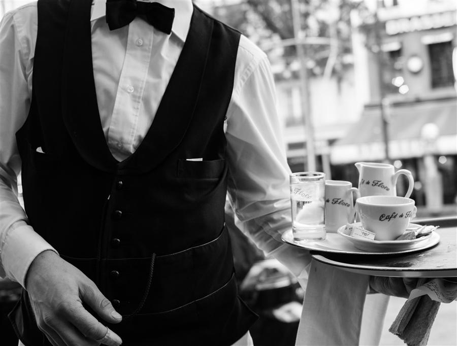 Original art for sale at UGallery.com | Cafe de Flore Black and White by REBECCA PLOTNICK | $220 |  | ' h x ' w | http://www.ugallery.com/photography-cafe-de-flore-black-and-white