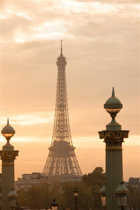 Original art for sale at UGallery.com | Parisian Eiffel Tower Sunset by REBECCA PLOTNICK | $220 |  | ' h x ' w | http://www.ugallery.com/photography-parisian-eiffel-tower-sunset