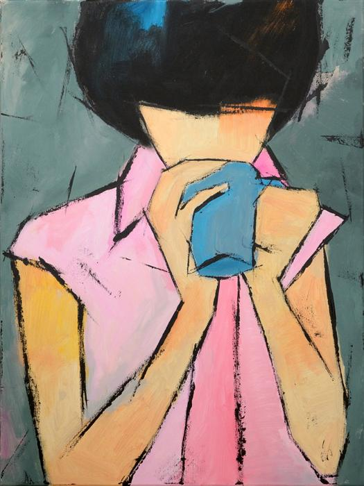 Discover Original Art by Tanya Grabkova | Blue Cup acrylic painting | Art for Sale Online at UGallery