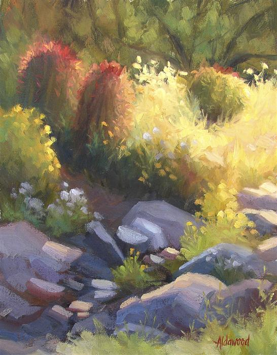 Original art for sale at UGallery.com | Glowing Garden by SHERRI ALDAWOOD | $400 | Oil painting | 14' h x 11' w | http://www.ugallery.com/oil-painting-glowing-garden