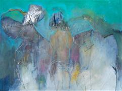 Abstract art,People art,Non-representational art,mixed media artwork,Refuge