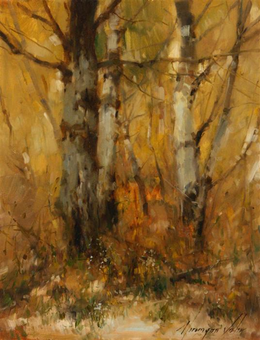 Original art for sale at UGallery.com | Gold Ocher by VAHE YEREMYAN | $650 | Oil painting | 14' h x 11' w | http://www.ugallery.com/oil-painting-gold-ocher
