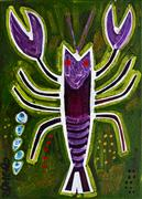 Discover Original Art by Jessica JH Roller | Crayfish acrylic painting | Art for Sale Online at UGallery