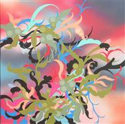 Fantasy art,Flora art,Street Art art,Representational art,mixed media artwork,Summer Entangles