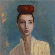 People art,Fashion art,Representational art,Vintage art,oil painting,Hairs above Ground