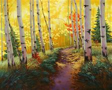 Fantasy art,Landscape art,Nature art,Representational art,oil painting,Autumn Pass