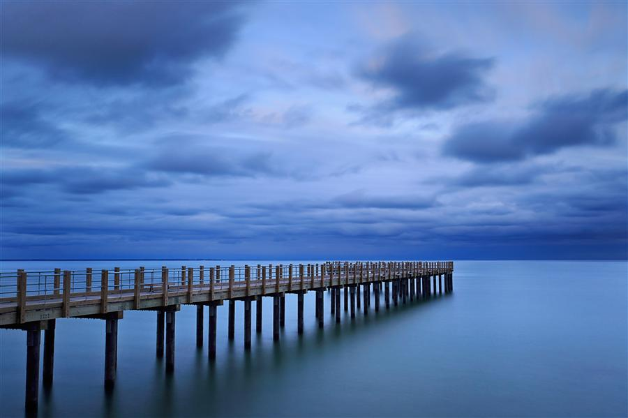 Discover Original Art by Katherine Gendreau | Dusk at the Pier photography | Art for Sale Online at UGallery