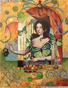 Fantasy art,People art,Representational art,mixed media artwork,Open Heart, Spread Your Wings