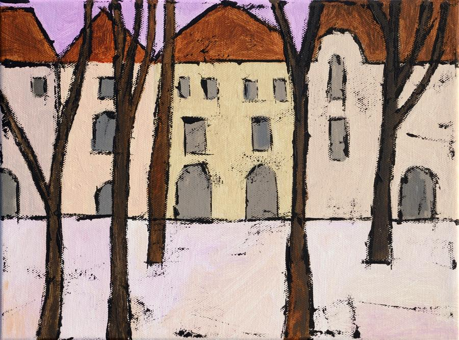 Discover Original Art by Tanya Grabkova | Warsaw acrylic painting | Art for Sale Online at UGallery