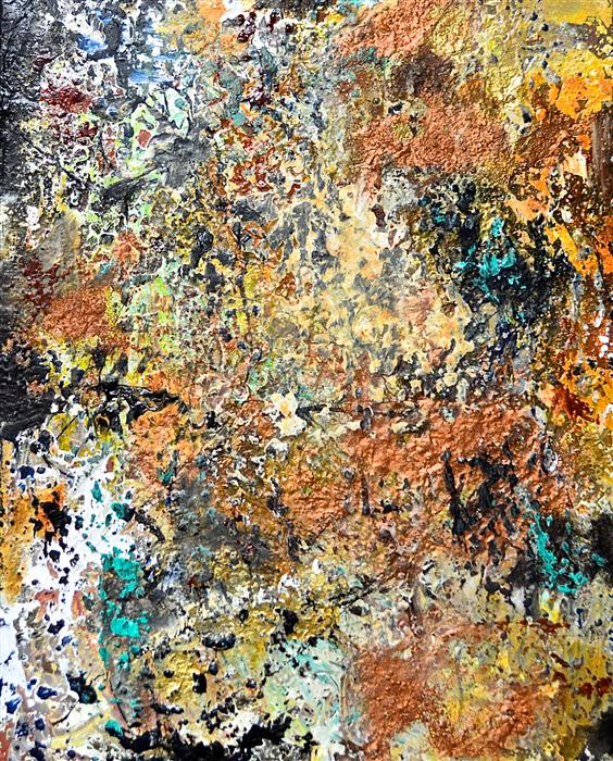 Original art for sale at UGallery.com | Minerali by DL WATSON | $800 | Mixed media artwork | 20' h x 16' w | http://www.ugallery.com/mixed-media-artwork-minerali