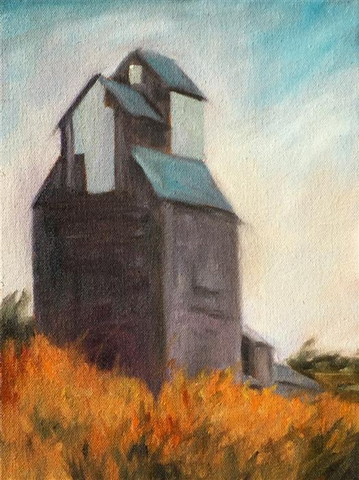 Discover Original Art by Mandy Main | Grain Elevator oil painting | Art for Sale Online at UGallery