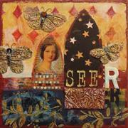 Representational art,Vintage art,mixed media artwork,Seer
