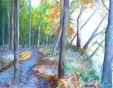 Impressionism art,Landscape art,Nature art,Representational art,acrylic painting,Path along the James