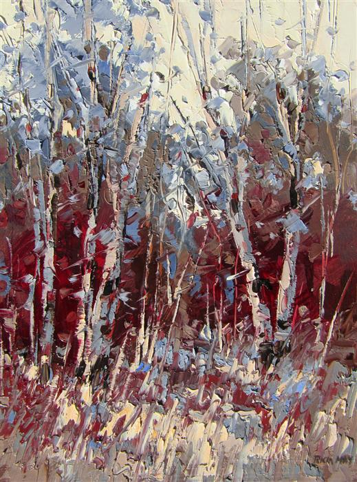 Original art for sale at UGallery.com | Present by TRICIA MAY | $375 | Oil painting | 12' h x 9' w | http://www.ugallery.com/oil-painting-present