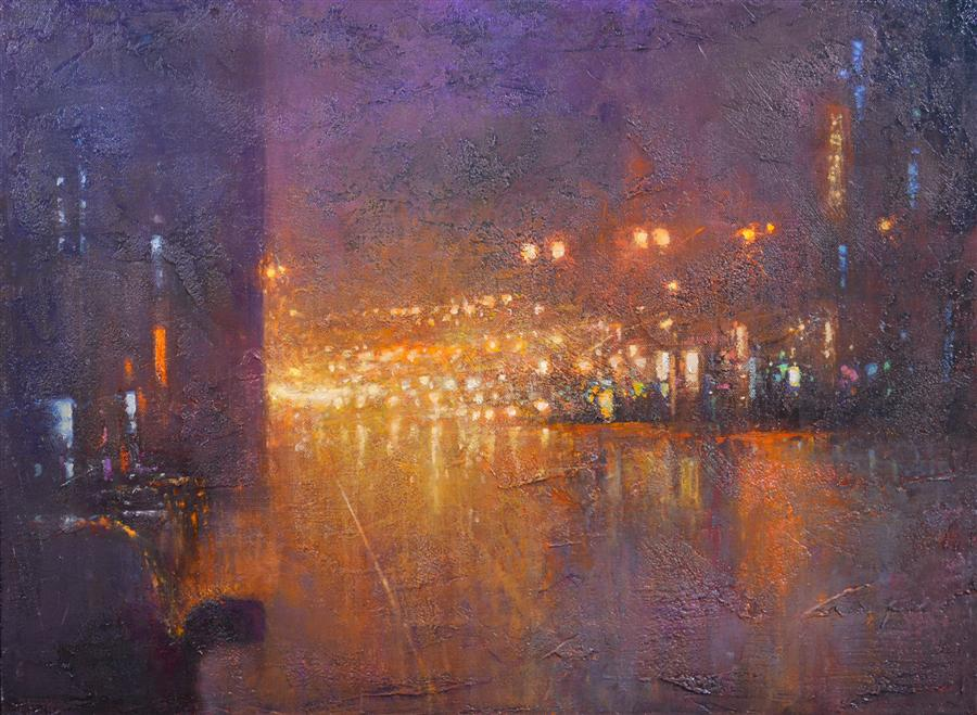 Original art for sale at UGallery.com | Reflected Lines by DON BISHOP | $1,000 | Oil painting | 18' h x 24' w | http://www.ugallery.com/oil-painting-reflected-lines