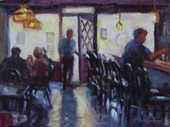 Impressionism art,Cuisine art,Representational art,oil painting,She Was Surprised to See Him