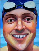 People art,Sports art,Representational art,oil painting,Swim Uncle