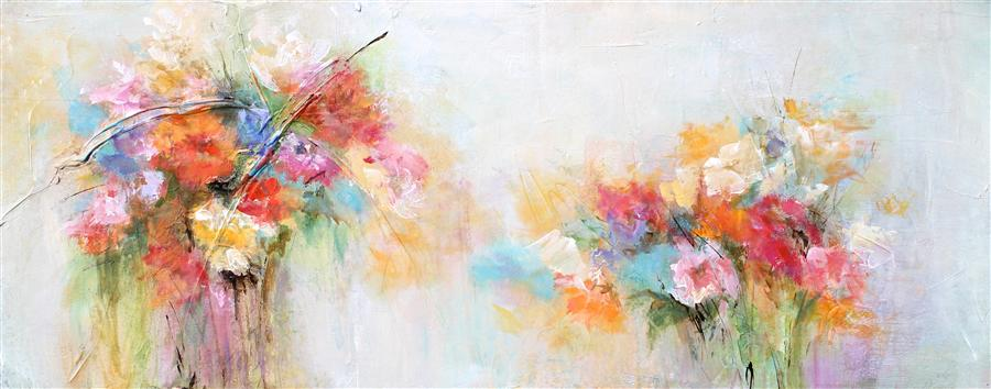 Original art for sale at UGallery.com | A Splash of Spring by KAREN HALE | $1,500 | Acrylic painting | 16' h x 40' w | http://www.ugallery.com/acrylic-painting-a-splash-of-spring