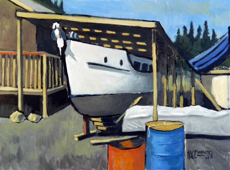 Discover Original Art by Robert  Holewinski | Dry Dock oil painting | Art for Sale Online at UGallery