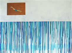 Pop art,Sports art,Representational art,mixed media artwork,Unfamiliar Waters
