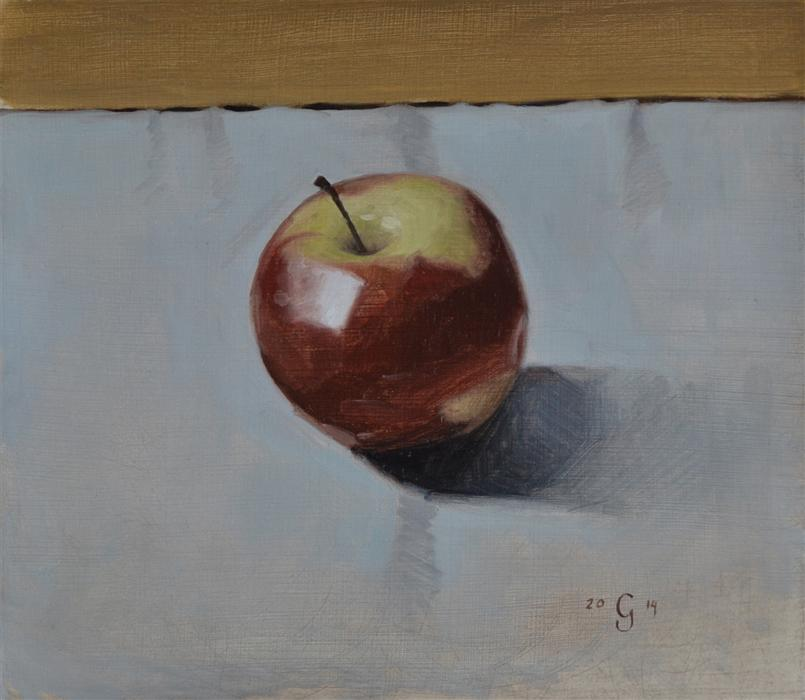 Discover Original Art by Christopher Garvey | Apple oil painting | Art for Sale Online at UGallery
