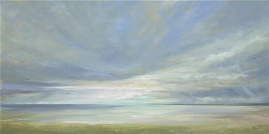 Original art for sale at UGallery.com | Aqua Light by SHEILA FINCH | $4,000 | Oil painting | 24' h x 48' w | http://www.ugallery.com/oil-painting-aqua-light