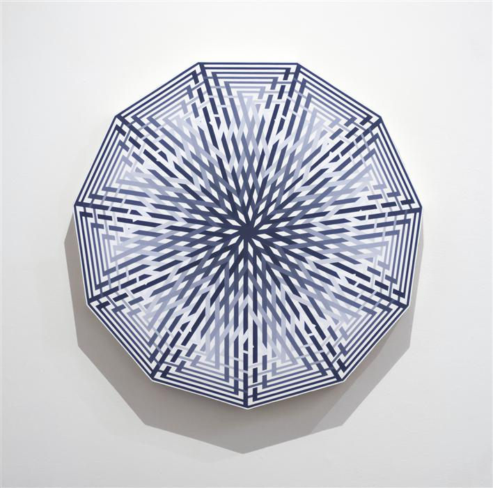 Original art for sale at UGallery.com | Hendecagon by HARRY SIDEBOTHAM | $4,375 | Acrylic painting | 36' h x 35' w | http://www.ugallery.com/acrylic-painting-hendecagon