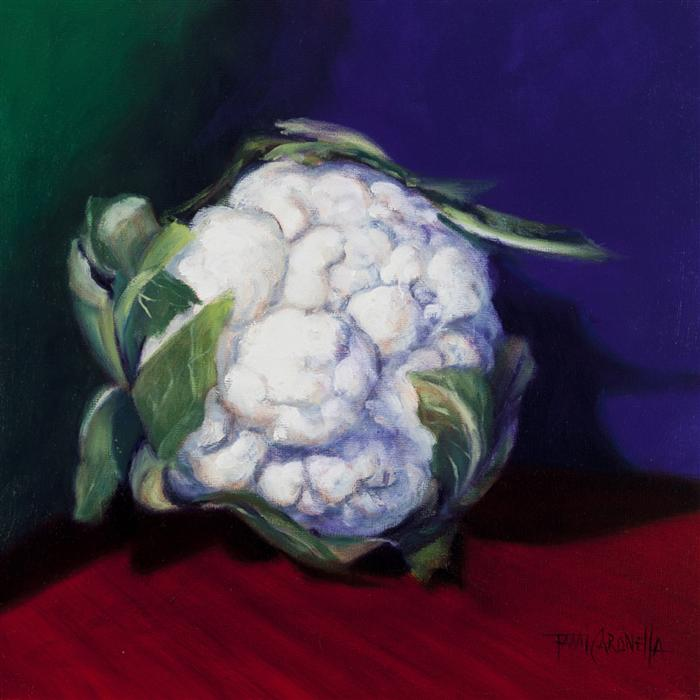 Discover Original Art by Tami Cardnella | Head Collection, Cauliflower oil painting | Art for Sale Online at UGallery