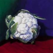 Still Life art,Cuisine art,Representational art,oil painting,Head Collection, Cauliflower