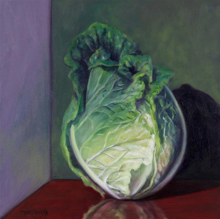 Discover Original Art by Tami Cardnella | Head Collection, Napa Cabbage oil painting | Art for Sale Online at UGallery