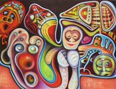 Abstract art,Surrealism art,Street Art art,Non-representational art,oil painting,Hot Fun in the Summertime