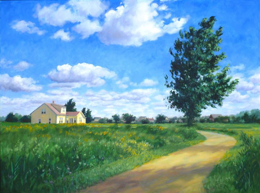 Original art for sale at UGallery.com | Prairie Crossing by SUZANNE MASSION | $1,375 | Oil painting | 30' h x 40' w | http://www.ugallery.com/oil-painting-prairie-crossing