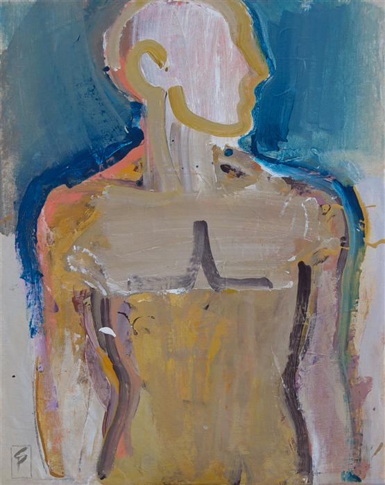 Original art for sale at UGallery.com | Standing Man by STEPHEN POLING | $2,300 | Acrylic painting | 30' h x 24' w | http://www.ugallery.com/acrylic-painting-standing-man