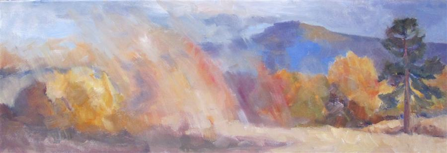 Discover Original Art by Anita L. West | Lone Pine oil painting | Art for Sale Online at UGallery