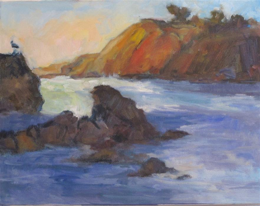 Original art for sale at UGallery.com | Cove by ANITA L. WEST | $925 | Oil painting | 14' h x 18' w | http://www.ugallery.com/oil-painting-cove