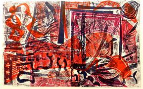 Abstract art,Non-representational art,printmaking,Buried Treasure 2