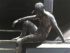 People art,Minimalism art,Representational art,mixed media artwork,Man Thinking