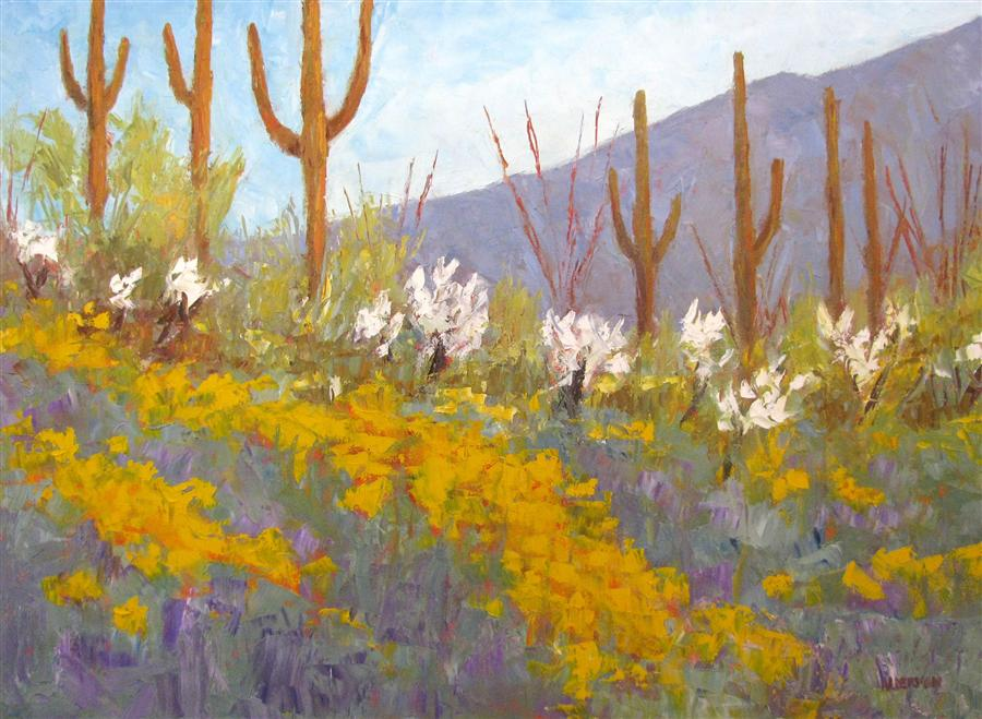 Original art for sale at UGallery.com | Spring Radiance by ROGER ALDERMAN | $2,800 | Oil painting | 30' h x 40' w | http://www.ugallery.com/oil-painting-spring-radiance