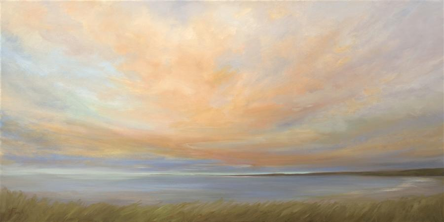 Original art for sale at UGallery.com | Heavenly Dawn by SHEILA FINCH | $4,000 | Oil painting | 24' h x 48' w | http://www.ugallery.com/oil-painting-heavenly-dawn