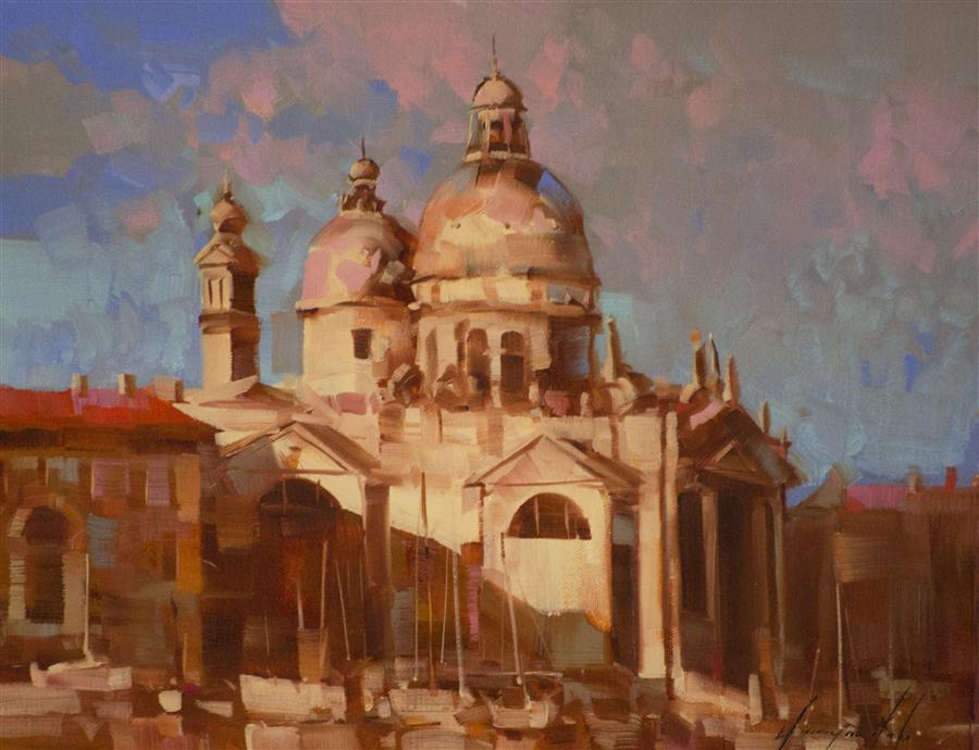 Original art for sale at UGallery.com | Venice by VAHE YEREMYAN | $400 | Oil painting | 11' h x 14' w | http://www.ugallery.com/oil-painting-venice-35676