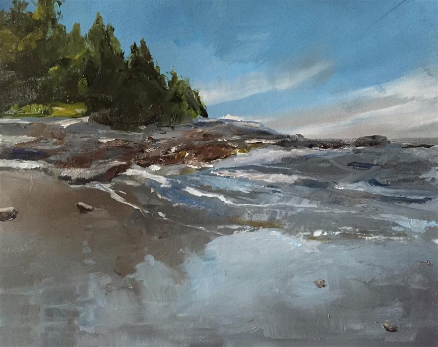 Original art for sale at UGallery.com | Coastline by GARY BRUTON | $550 | Oil painting | 11' h x 14' w | http://www.ugallery.com/oil-painting-coastline