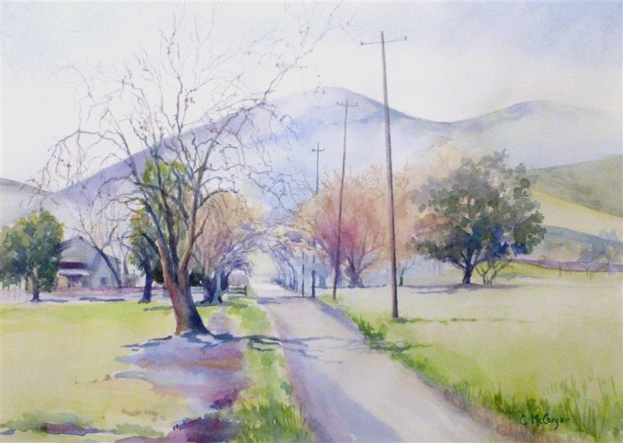 Original art for sale at UGallery.com | Winter Light by CATHERINE MCCARGAR | $425 | Watercolor painting | 10' h x 14' w | http://www.ugallery.com/watercolor-painting-winter-light