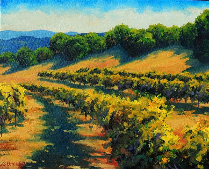 Discover Original Art by Steven Guy Bilodeau | Six Sigma Vineyards oil painting | Art for Sale Online at UGallery