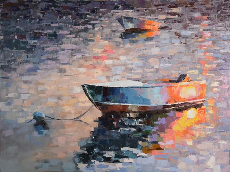 Discover Original Art by Kim McAninch | Boat/25 oil painting | Art for Sale Online at UGallery