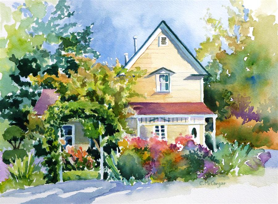 Original art for sale at UGallery.com | Town House by CATHERINE MCCARGAR | $350 | Watercolor painting | 9' h x 12' w | http://www.ugallery.com/watercolor-painting-town-house
