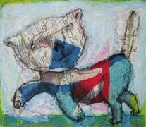 Animals art,Pop art,Representational art,mixed media artwork,Leaving Las Vegas