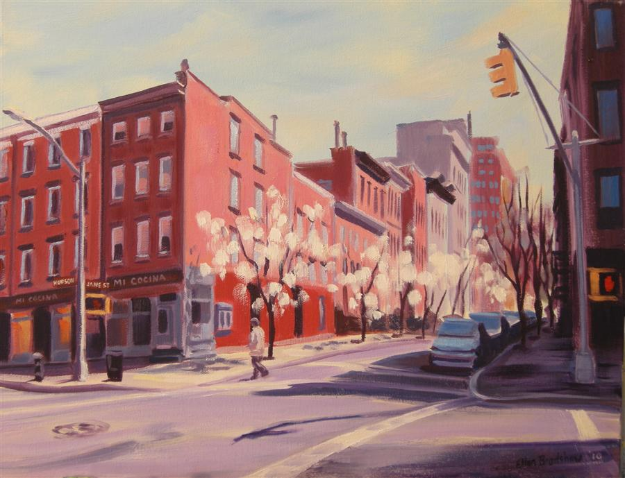 Discover Original Art by Ellen Bradshaw | Spring, Hudson & Jane St oil painting | Art for Sale Online at UGallery